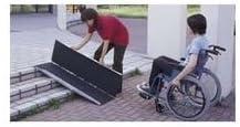 車椅子用段差解消スロープ/ポータブルスロープアルミ2折式タイプ(1.8m)
