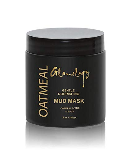 Glamology Oatmeal Face Brightening Mask for Deep Pore Cleanser for Reduction in Pores, Spots, Blackheads with Pink Clay, Oatmeal, Lemon Grind & Rosehip Powder.