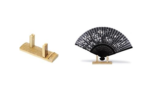Amazon Bamboo Japanese Folding Fan Gomatake Wooden Fan Stand Mesmerizing Japanese Fan Display Stand