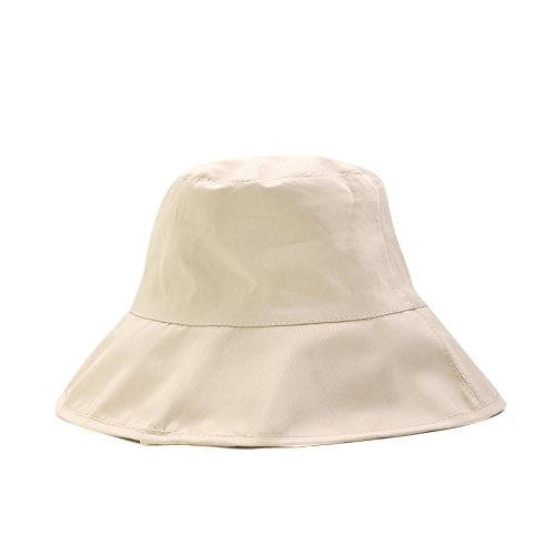 Women's Outdoor UPF50+ Sun Hat Cotton Linen Packable Bucket Boonie Wear Beach Daily Khaki