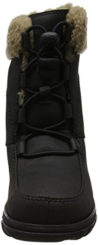 Fitflop Loaff Waterproof Lace Up - Botas de Agua Mujer Negro (All Black)