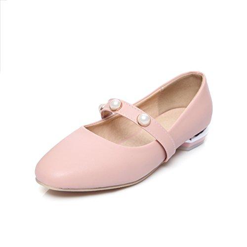 Square MEI Chaussures Talon Peu Profonde Toe amp;S Bas Pink Femmes Bouche rFwxfEYF