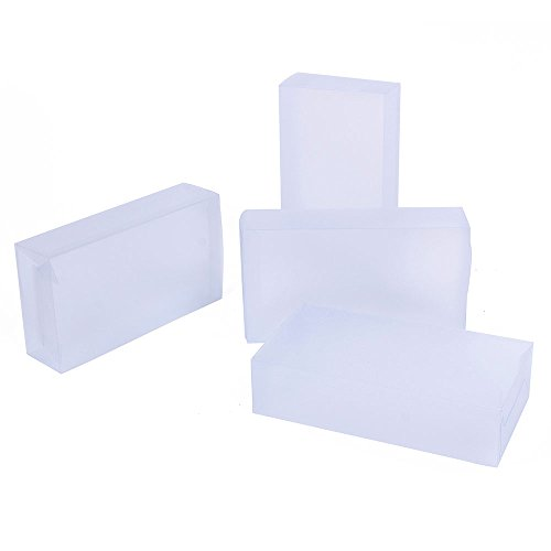 Rectangle Gift Box (Clear Plastic Box for weddings,party favors, packaging - Rectangle 1.7in*3.9in*7in - 15pcs)