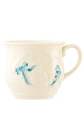 Belleek 4018 Bunny Baby Cup Blue from Belleek