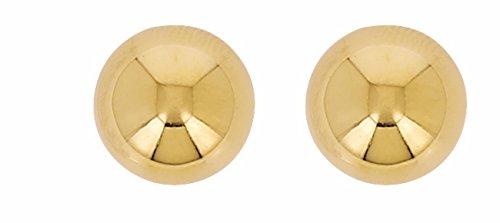 Boucles d'Oreilles Boules 10 mm Or 18 Carats