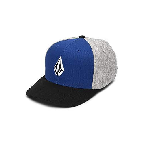 (Volcom Men's Full Stone Xfit Flex Fit Hat, Midnight Blue Small/Medium)