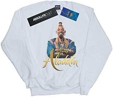 Disney Herren Aladdin Movie Genie Photo Sweatshirt Weiß XXX-Large