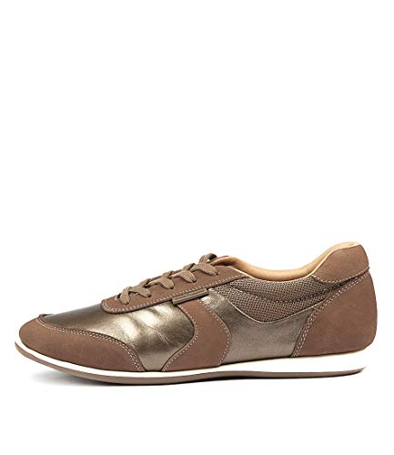 Hush Puppies Resolve Taupe Metallic Multi Womens Sneakers Casuals Shoes TAUPE METALLIC MULTI LEATHER