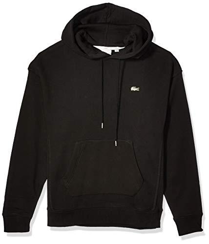 Lacoste Mens Long Sleeve Hoody Sweatshirt With Contrasted Piping Sweatshirt