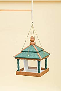 product image for DutchCrafters Square Bird Feeder (with Walls, Turf Green/Cedar/White)
