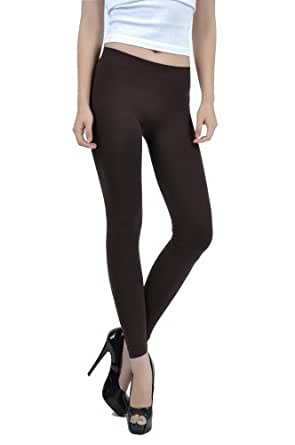 Emma's Mode Junior Full Length Legging Plus Size SL-02P-Brown