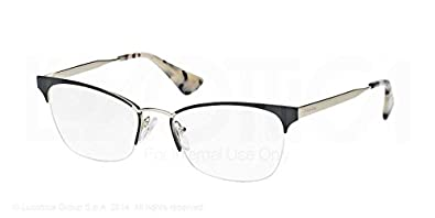 31a025606831 Image Unavailable. Image not available for. Color  Prada CINEMA  PR65QV Eyeglass  Frames QE31O1-51 - Black pale Gold ...