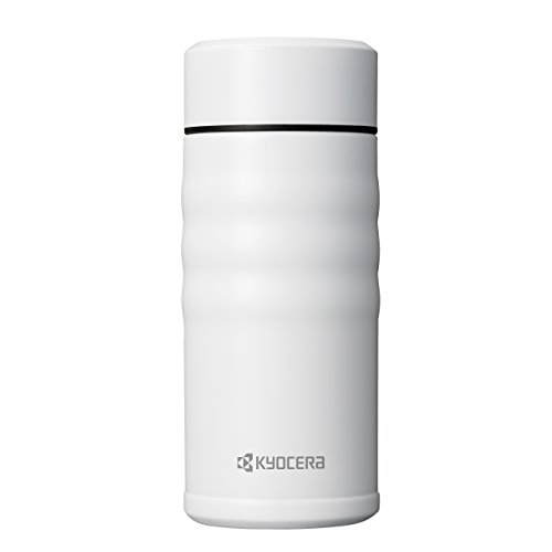 Kyocera MB-12S WH Travel Mug with Twist Top, 12oz, Pearl White