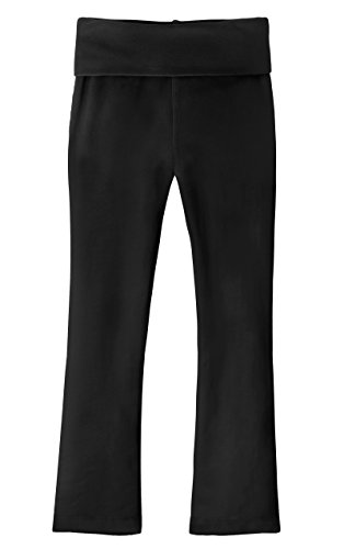 City Threads Girls Yoga Pants With Fold Over Waist Athletic Leggings Active Pants