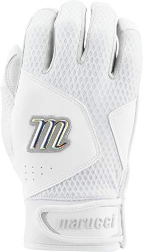 Marucci Sports Equipment Sports, MBGQST2Y-W/W-YM, Youth Quest 2.0 Batting Gloves