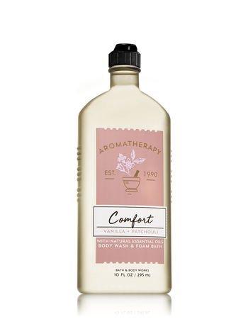 Bath & Body Works Aromatherapy Comfort - Vanilla & Patchouli Body Wash & Foam Bath, 10 Fl - Bath Bubble Vanilla Gel
