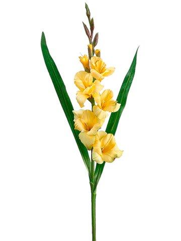 Amazoncom 33 Silk Gladiolus Flower Spray Yellow Case Of 12
