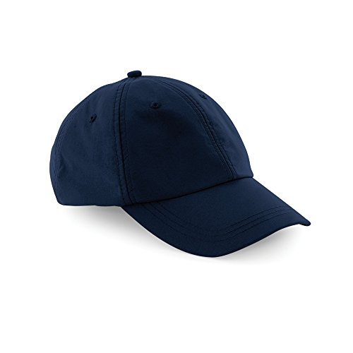 Beechfield Unisex Outdoor Waterproof 6 Panel Baseball Cap (One Size) (Navy Blue)