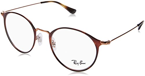 de Ban On Top Adulto Copper Ray 0RX6378 Unisex Havana Monturas Gafas Marrón Ttqfn4w