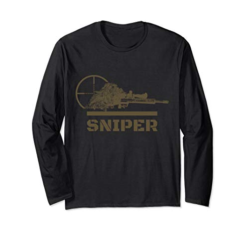Sniper Ghillie Suit and Reticle Military Long Sleeve T-Shirt