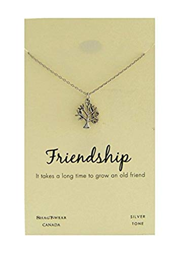 Shag Wear Friendship and Love Inspirations Quote Pendant Necklace (Friendship, Tree Pendant)