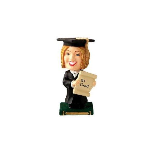 Graduation Topper Bobbling Head Female