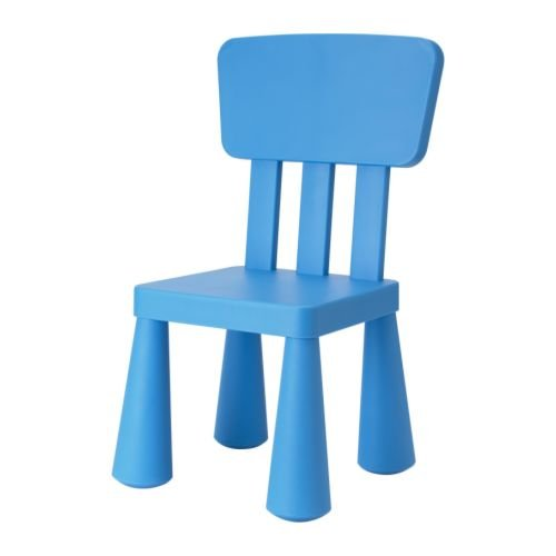 Ikea MAMMUT - Children-s chair, blue