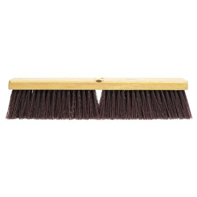 Weiler Garage Floor Brush – 24'', Maroon Synthetic Fill (2 Pack)