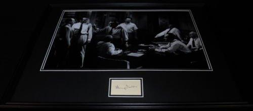 Henry Fonda Signed Framed 18x24 Photo Display JSA 12 Angry Men