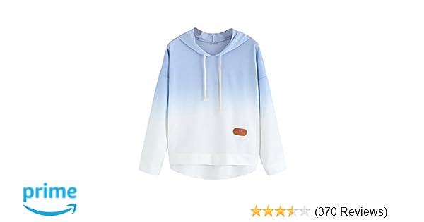 SweatyRocks Women s Long Sleeve Hoodie Sweatshirt Colorblock Tie Dye Print  Tops at Amazon Women s Clothing store  43045d783