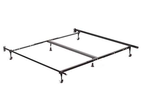 Milton Greens Stars Cruze Adjustable Queen, California King, Eastern King Bed Frame with Rug Rollers, Queen/King