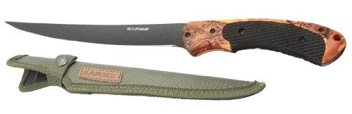 Sarge Knives SK-133 Hi-Vis Camo Fixed Blade Fillet Knife with 6-1/2-Inch Stainless Orange Camo (Camo Stainless Handle)