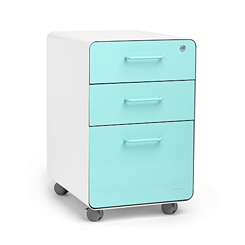 Rolling 3-Drawer File Cabinet