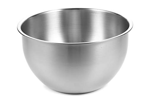 AtHomeBaking Stainless Steel Mixing Bowl - 10 inch - 5 Quart - Metal Mixing Bowls - 304 Stainless Steel Mixing Bowls - Baking Bowl