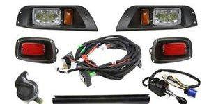 EZGO TXT Full LED Street Legal Deluxe Light Kit 1996-2013 - Turn Signals - Brake Lights - Horn