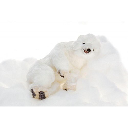 (Pack of 2 Life-like Handcrafted Extra Soft Plush Floppy Polar Bear Cub Stuffed Animals 11.75