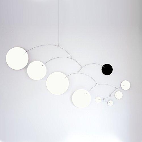 MOD Art White & Black Mobile - Choose From 3 Sizes - Calder Inspired Retro Modern Hanging Art by Atomic Mobiles