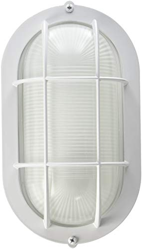 (Westinghouse Lighting SL2P Westinghouse 6783500 One-Light Exterior Wall Fixture, Finish on Steel with White Glass Lens, Oblong,)