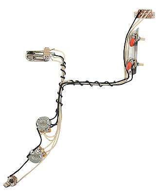Fender Modern Jazzmaster Guitar Pre-Wired Wiring Harness 2V2T w/Kill on gibson les paul wiring harness, fender stratocaster wiring harness, p bass wiring harness, les paul custom wiring harness, tele wiring harness, fender jaguar wiring harness,