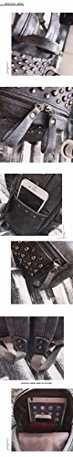 woman gray MSZYZ bag bag pack fashion Rivet shoulder casual female qFwpXq