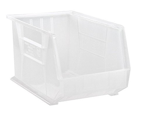 Quantum Storage QUS260CL Ultra Stack & Hang Bin44; Clear - 18 x 11 x 10 in.