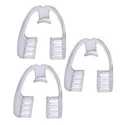 BESPORTBLE 3pcs Mouth Guard Night Guard Retainer Anti Grinding Teeth Protector EVA Woman Man (Transparent)