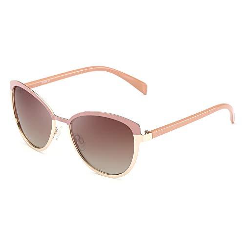 REBSUN Cat Eye Sunglasses for Women Polarized UV Protection Retro Jackie O Fashion Designer Square Metal Mirrored Lenses Shades Sun Glasses ()