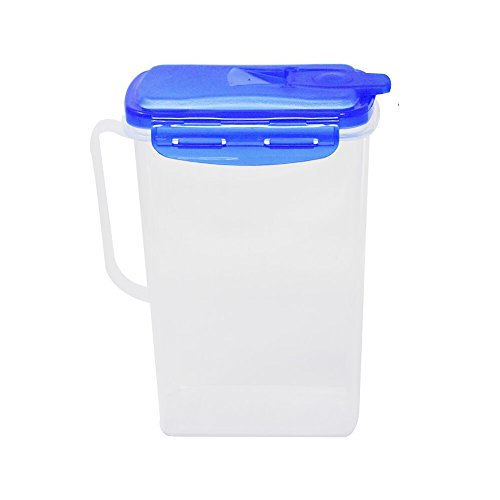 Home-X Fridge Door Pitcher, Slim Design Fits Perfectly in Tight Spaces, 2 Quart Capacity (9