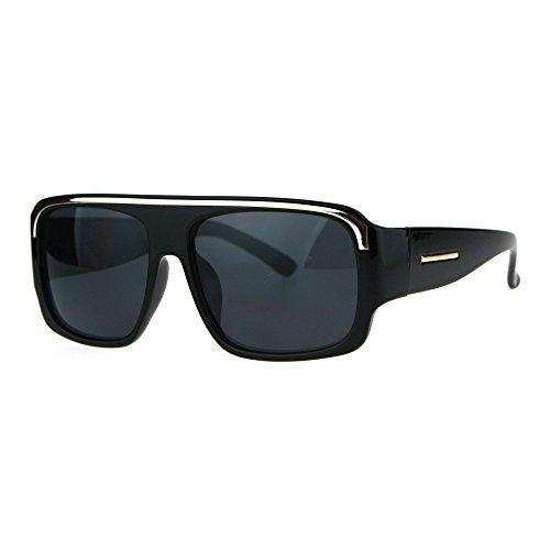Mens Flat Top Metal Top Brow Trim Mob Mafia Sunglasses All - Mens Flat Brow Sunglasses