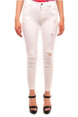 A|X Armani Exchange Women's Five Pockets Jeans, White Denim, 29
