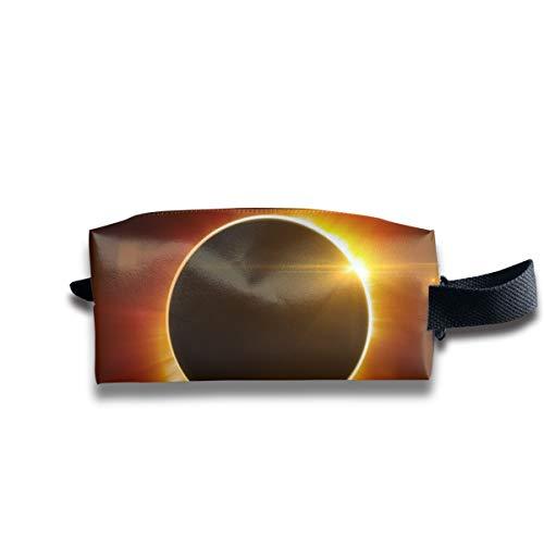 Clash Durable Zipper Wallet Makeup Handbag With Wrist Band Solar Eclipse Toiletry Bag ()