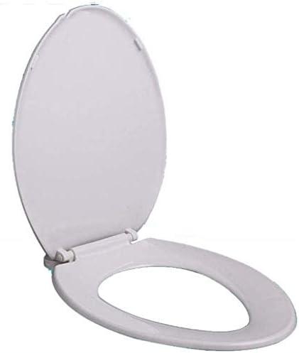 CXMMTGトイレのふた 抗菌ボトム遅くなることはありませ付き便座のVシェイプユニバーサル便座は、バスルーム、洗面所、A-46.8-48.8Cm * 36.1Cmについて肥厚トイレのふたをマウント CXMWY-4W0Y2
