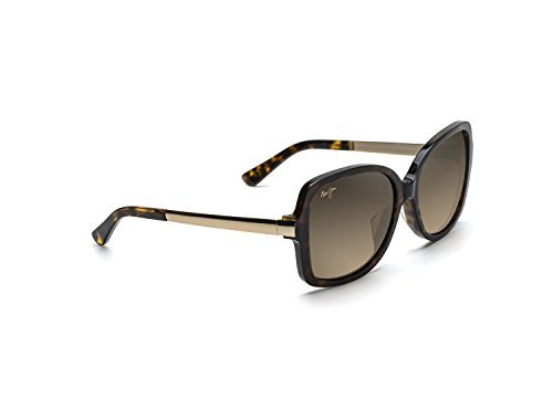 - Maui Jim Melika HS760-10K | Polarized Dark Tortoise with Gold Temples Fashion Frame Sunglasses, HCL Bronze Lenses, with Patented PolarizedPlus2 Lens Technology