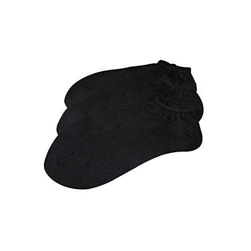(NEGROS COTTON ) Pack Set/Pack 6 pares calcetines tobilleros lisos 100% algodón REAL hombre/caballero 40 a 46, y puño anti-presion. puño anti-presion. (NEGROS)